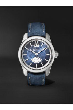 Bremont Herren Uhren - Hawking Limited Edition Automatic 41mm 18-Karat White Gold and Leather Watch