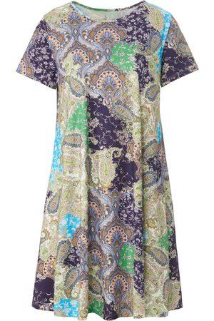 green cotton Jersey-Kleid