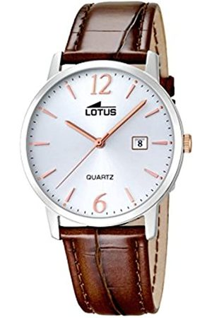 Lotus Herren Analoger Quarz Uhr mit Echtes Leder Armband 18239/4