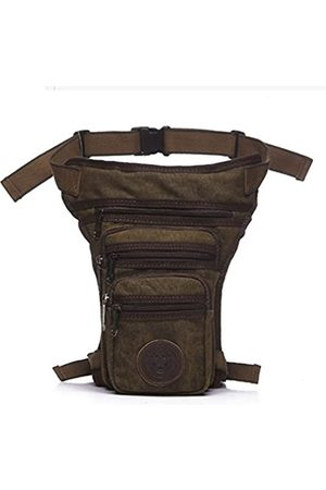 Hebetag Hebetag Canvas Thigh Drop Leg Bag for Men Tactical Military Motorcycle Rider Multi-Pocket Waist Fanny Pack Mens Travel Hiking Climbing Cycling Outdoors Coffee