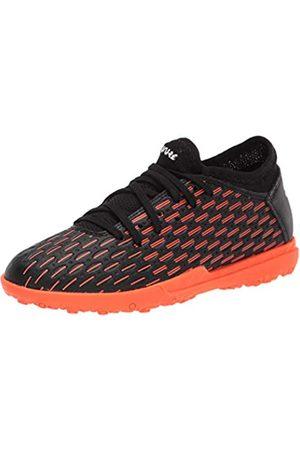 PUMA PUMA Future 4 Soccer Shoe, Black White-Shocking Orange