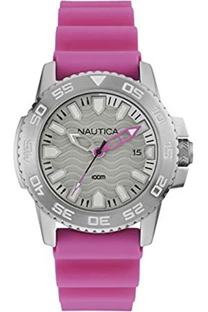Nautica Herren Analog Quarz Uhr mit Gummi Armband NAI12533G