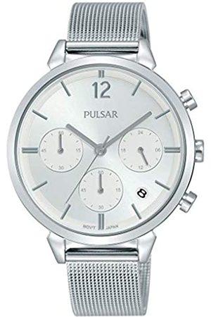 Pulsar Pulsar Quarz Damen-Uhr Chronograph Edelstahl mit Metallband PT3943X1