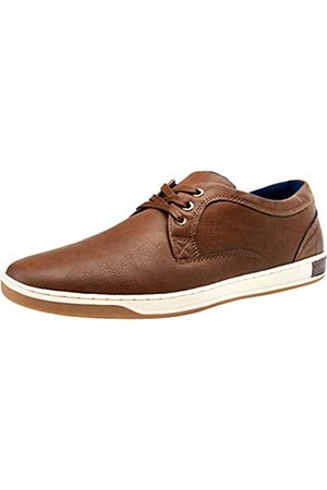 JOUSEN JOUSEN Herren Mode Sneaker 3 Ösen Einfacher Stil Freizeitschuhe, (Business Casual-81q06-dark Braun)