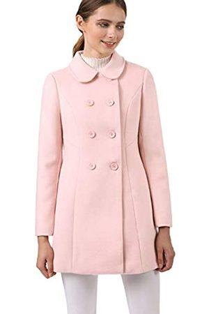 Allegra K Damen Langarm Bubikragen Zweireiher Trenchcoat Mantel XL