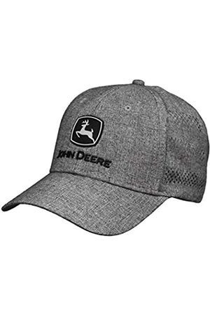 John Deere Tractors Men's Silver and Black Embroidered Performance Cap