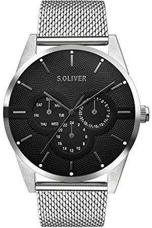 s.Oliver S.Oliver Herren Multi Zifferblatt Quarz Armbanduhr mit Edelstahlarmband SO-3574-MM