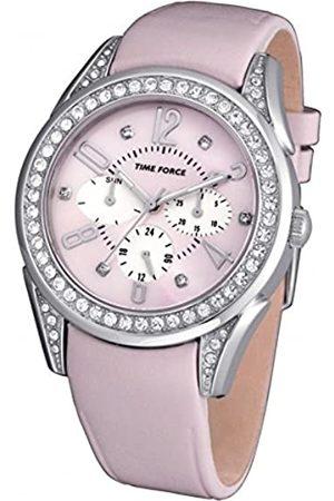 Time Force Damen Analog Quarz Uhr mit Leder Armband TF3375L06