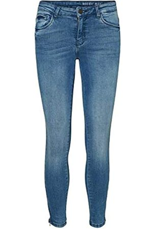 Noisy May Damen Skinny Jeans NMKIMMY NR ANKLE ZIP JEANS AZ062LB NOOS 27006065, (Light Blue Denim)