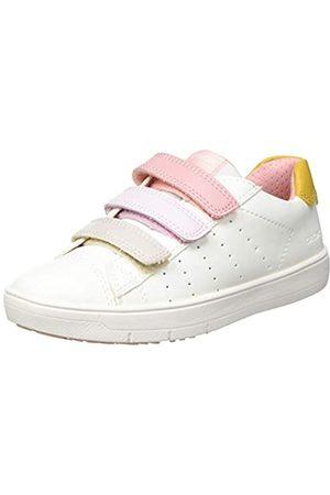 Geox Geox J SILENEX Girl B Sneaker, White/Navy