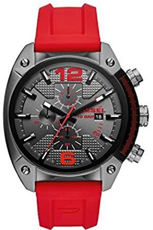 Diesel Diesel Herren Chronograph Quarz Uhr mit Silikon Armband DZ4481