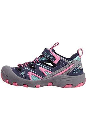 Kappa Kappa REMINDER K Outdoor-Schuhe für Kinder │ geschlossene Sandalen mit fester Sohle │ mit Klettverschluss und Schnürkordel │ Mix aus Sneaker & Sandale für Mädchen und Jungen │ in den Größen 25 - 35