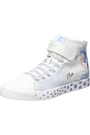 Geox Geox JR CIAK Girl D Sneaker, White/Sky