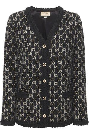 Gucci Damen Strickjacken - Cardigan Aus Wollstrick