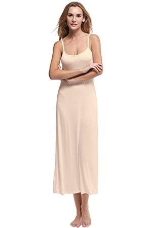 Papicutew Damen-Unterkleid, lang, Cami, Trägerkleid, Nachthemd