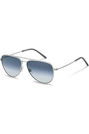 Rodenstock Herren Classic Sun R1425 leichte Sonnenbrille im Retro-Stil, Pilotenbrille mit Edelstahlgestell