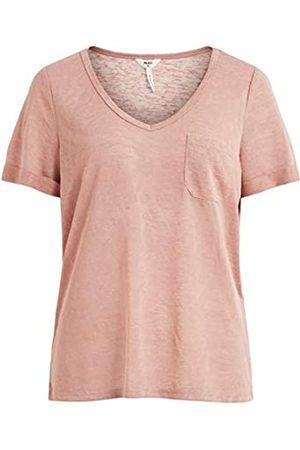 Object Damen Objtessi Slub S/S V-neck Noos T Shirt