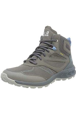 Jack Wolfskin Damen Woodland Texapore Walking-Schuh, Grey/Light Blue