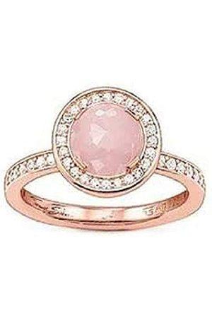 Thomas Sabo THOMAS SABO Damen-Ring 925 Silber teilvergoldet Zirkonia weiß Gr. 52 (16.6) - TR1971-417-9-52