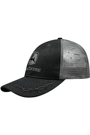 John Deere John Deere Herren Mütze aus Ölleder, anthrazit, Netzrücken