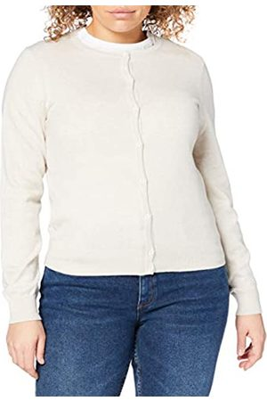 MERAKI Amazon-Marke: Baumwoll-Strickjacke Damen mit Rundhals, (Linen), 40
