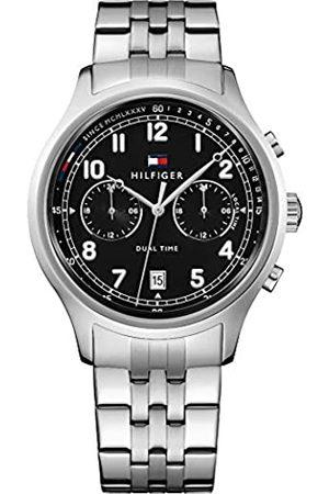 Tommy Hilfiger Herren Datum klassisch Quarz Uhr mit Leder Armband 1791389