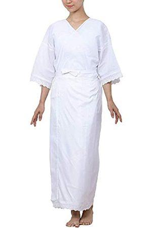 KYOETSU KYOETSU Damen Japanische Kimono Unterwäsche Hadajuban mit Spitze waschbar 03 - Wei� - Medium
