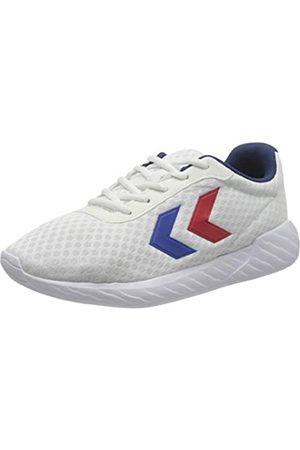 Hummel Unisex-Erwachsene Legend Breather Sneaker, White/Blue/RED