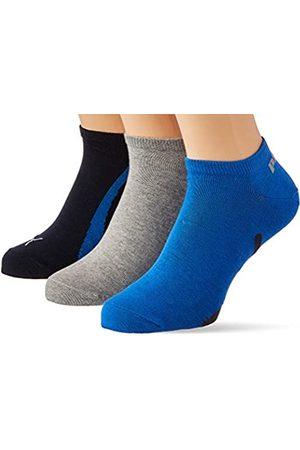 PUMA Unisex-Adult Lifestyle Sneaker-Trainer (3 Pack) Socks, Navy/Grey/Strong Blue