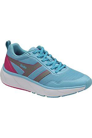 Gola Damen Typhoon Road Running Shoe, Blue/Silver/Pink
