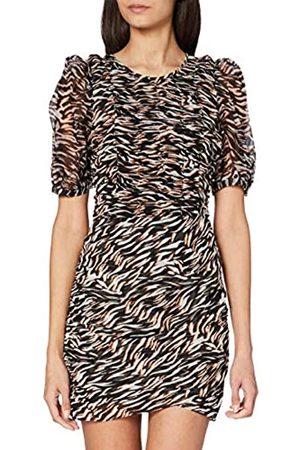 French Connection Damen IGER Crinkle Mix Smocked Dress Lässiges Kleid