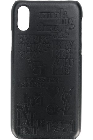 Saint Laurent IPhone X-Hülle mit Kroko-Effekt
