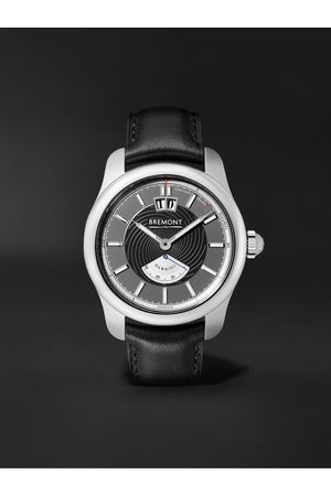 Bremont Hawking Limited Edition Automatic 41mm Stainless Steel and Leather Watch