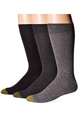 Gold Toe Herren Micro Flat Knit Crew Socken 3 Paar - - Einheitsgröße