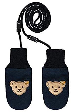 Steiff Baby-Jungen mit süßer Teddybärapplikation Babyfäustlinge, Navy