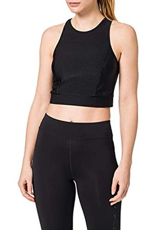 Urban classics Urban Classics Damen Ladies Cropped Shiny Rib Top Sport-BH, Black