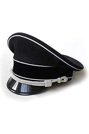 HOME DAILY SALE WW2 German Officer Hat Crusher Cap mit Silberkinnkordel Wollmaterial - - 59 cm