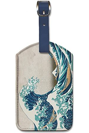 Pacifica Island Art Pacifica Island Art Leatherette Luggage Baggage Tag - Great Wave by Hokusai