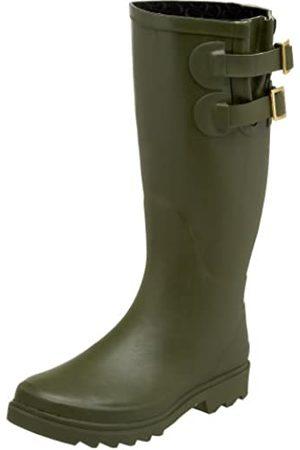 Chooka Damen Premium Solid Dual Buckle – Olive Rain Boot, Grün (olivgrün)