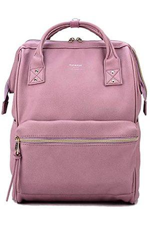 Kah&Kee Kah&Kee Leder Rucksack Wickeltasche mit Laptopfach Travel School für Damen (Lavendel
