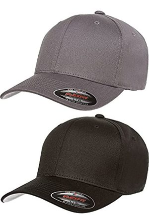 Flexfit Flexfit Herren V-Baumwoll-Twill Fitted Hat 2er Pack Gr. L/XL