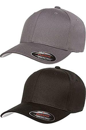 Flexfit Herren V-Baumwoll-Twill Fitted Hat 2er Pack Gr. S/M
