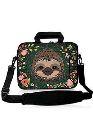 Violet Mist Laptop-Schutzhülle, Neopren, wasserdicht, Aktentasche, verstellbarer Schultergurt, Außentasche für Damen und Herren, 28,9 cm, 33,8 cm, 33,8 cm