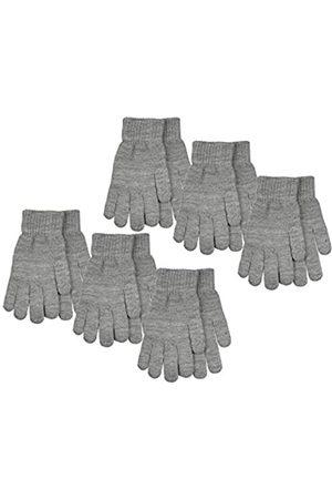 Gelante Gelante 6-12 Paar Erwachsene Winter Strickhandschuhe Magic Stretch Handschuhe - Grau - Einheitsgröße
