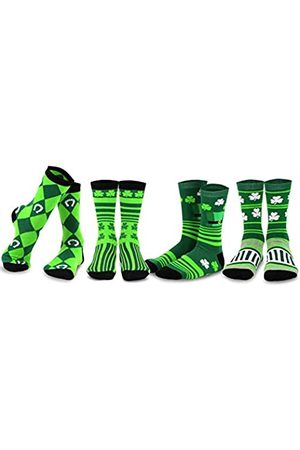 Teeheesocks TeeHee St. Patricks Day Cotton Crew Socks Assorted 4-Pair Pack (9-11