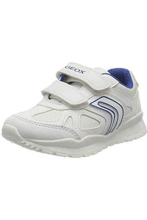 Geox Geox J Pavel C School Uniform Shoe, (White/Blue)