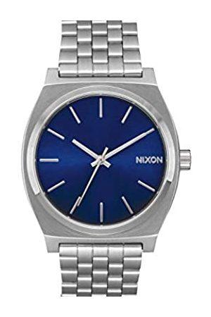 Nixon Time Teller Herrenuhr Analog Quarz mit Edelstahl Armband