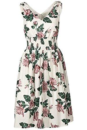 Apart APART, märchenhaft schönes Sommerkleid, Damen Kleid, aus Baumwollware, crème-Multicolor, Oberteil dopellagig gearbeitet, in der Taille breit gesmokt