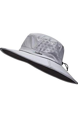 Coolibar UPF 50+ Herren Damen Fore Golf Hut – Sonnenschutz - Grau - M/L