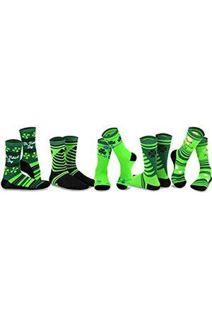 Teeheesocks Herren Socken & Strümpfe - TeeHee St. Patricks Day Cotton Crew Socks Assorted 5-Pair Pack (Asst-B